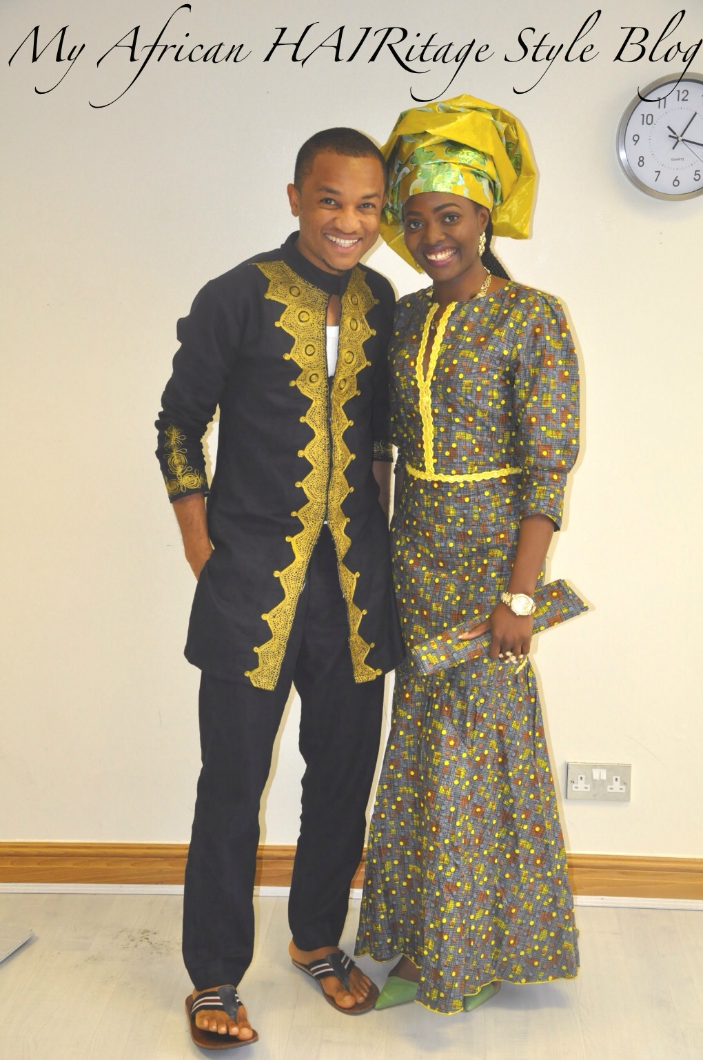 ... nigerian native wear male version complimented my dress anyways here